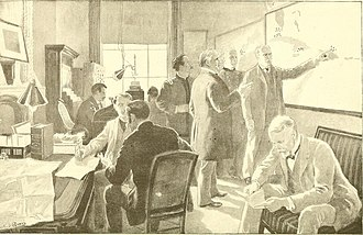 Command center - 19th century War Room of the United States Navy