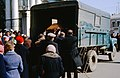 Funeral in Moscow 1964, truck as a hearse.jpg