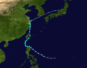 Tropical Storm Fung-wong (2014) - Image: Fung wong 2014 track