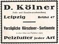 Fur wholesale dealer D Kölner, Leipzig, 1922, advertisement.jpg