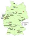 Fussball-Bundesliga Mannschaften je Ort in Deutschland 2019-2020.png