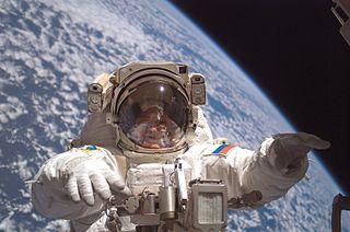 Ο Φιοντόρ Γιουρτσίχιν στον τρίτο του διαστημικό περίπατο, το 2007