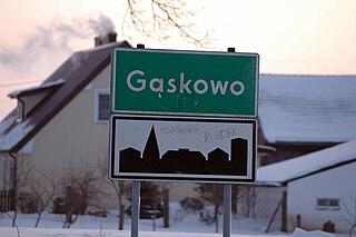 Gąskowo Village in West Pomeranian, Poland