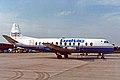 G-BAPG Vickers V.814 Viscount Baltic Airlines MAN OCT88 (13793590903).jpg