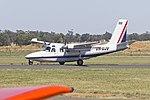 GAM Air (VH-UJV) Aero Commander 500S Shrike Commander taxiing at Temora Airport.jpg