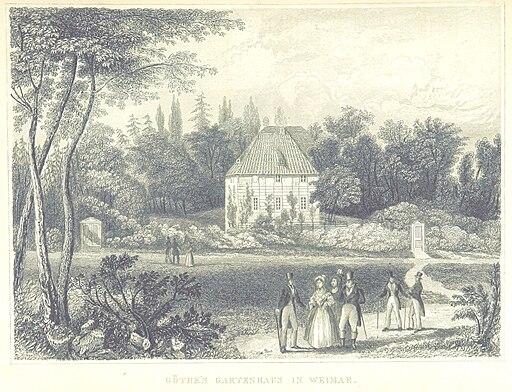 GOETHE'S GARTENHAUS IN WEIMAR (Orig. um 1840, printed in Hildburghausen)