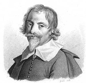 Library science - Portrait of Gabriel Naudé, author of Advis pour dresser une bibliothèque (1627), later translated into English in 1661
