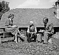 Gabrov oče iz Razdrtega v razgovoru z Bohinčevo in Smoletom 1949.jpg