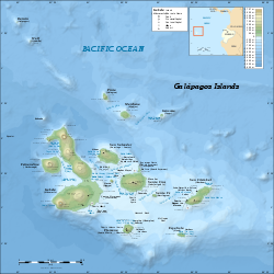 Map of the Galápagos archipelago