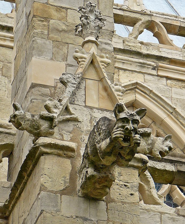 Gargoyle on Selby Abbey in North Yorkshire