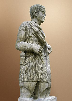 Mail (armour) - Statue of a Gallic warrior in mail.