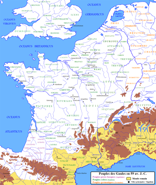 Gallic Tribes before conquest by Rome