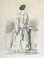 "Gavarni P. attr. - Pencil - ""Femme de plume"" - 16.4x23.5cm.jpg"