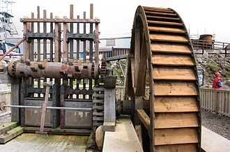 Stamp mill - Eight heads of Cornish stamps powered by a waterwheel