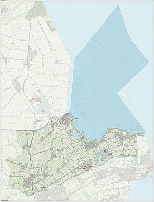 Medemblik - Dutch Topographic map of Medemblik, June 2015