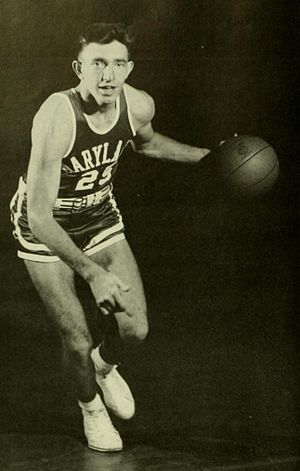Gene Shue - Gene Shue at Maryland in 1954