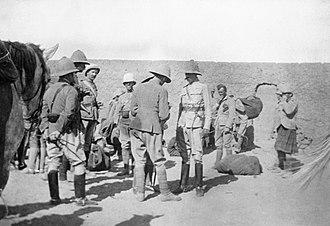 Herbert Kitchener, 1st Earl Kitchener - Kitchener, Commander of the Egyptian Army (centre right), 1898