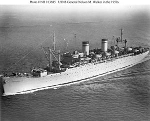 USS Admiral H. T. Mayo (AP-125) - USNS General Nelson M. Walker in the 1950s.