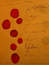 Originalunterschriften unter die Genfer Konvention