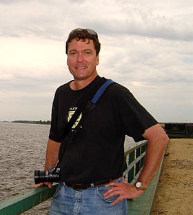 Genocide Scholar Adam Jones by the Volga River - Kazan - Russia - 2008.jpg