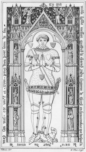 Geoffroi de Charny - Brass effigy of his son Geoffroi II de Charny