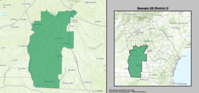 Georgia's 2nd congressional district - since January 3, 2013.