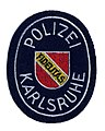 Germany - Stadt Polizei Karlsruhe (oval shape)(white text)(defunct 1972) (5410910455).jpg
