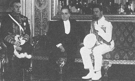 Vargas meets with Italy's Air Marshal Italo Balbo in the Catete Palace, 15 January 1931. Getulio Vargas e Italo Balbo - 1931.jpg