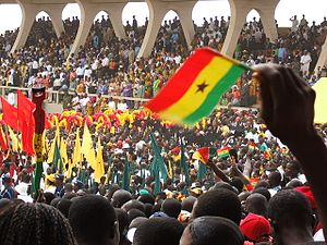 African nationalism - Ghanaian nationalists celebrating the 50th anniversary of national independence in 2007