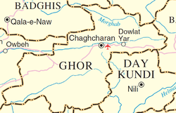 Ghowr province detail map.png