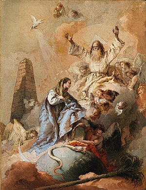 The Immaculate Conception (Tiepolo) - Image: Giovanni Battista Tiepolo Allegory of the Immaculate Conception NGI.353