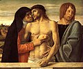 Giovanni Bellini - Dead Christ Supported by the Madonna and St John (Pietà) - WGA1632.jpg