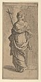 Girl carrying a crucifix and stepping toward a pilaster, seen from behind MET DP837817.jpg