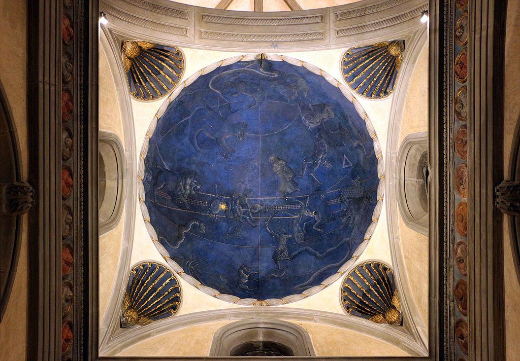 Giuliano d'Arrigo, detto Pesello, volta con cielo del luglio 1442, forse legato alla venuta di renato d'angiò a Firenze