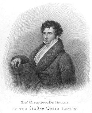 Giuseppe de Begnis - Opera buffo bass Giuseppe de Begnis, London 1822