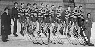 Glebe Collegiate Institute - Glebe Collegiate hockey team, 1938, including later member of National Hockey League Hall of Fame, Syd Howe