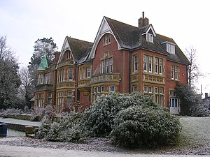 Crawley - Goff's Park House, Crawley, winter scene