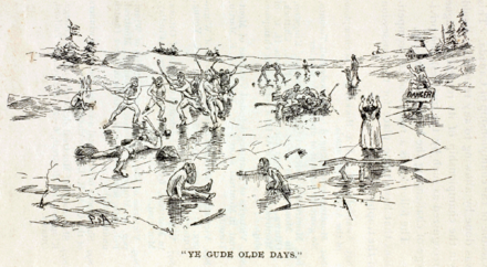 """Ye Gude Olde Days"" from Hockey: Canada's Royal Winter Game, 1899 Good old days of ice hockey.png"