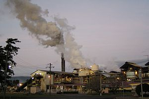 Gordonvale, Queensland - Mulgrave Central Mill at dusk