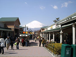 Mount Fuji as seen from the Gotemba Premium Outlets on the outskirts of the city