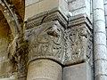 Gournay-en-Bray (76), collégiale St-Hildevert, bas-côté nord, chapiteau de l'arcade vers le transept, côté nord 2.jpg