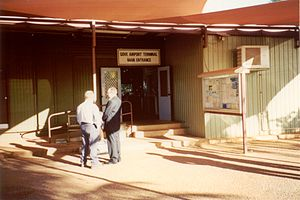 Nhulunbuy - The old airport terminal at Gove Airport.