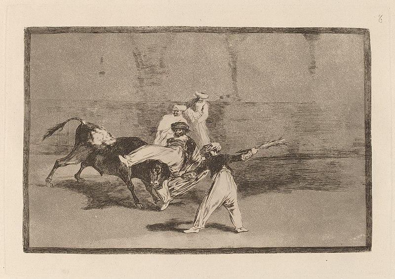 File:Goya - Cogida de un moro estando en la plaza (A Moor Caught by the Bull in the Ring).jpg