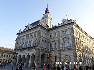 Accession of Serbia to the European Union - Novi Sad City Hall. The building where EU-Serbian government negotiations are held