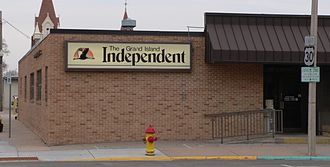 Grand Island Independent - Image: Grand Island Independent bldg SW corner