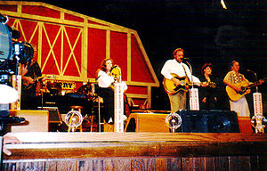 Description: June Carter Cash playing at the G...