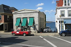 Rockport, Massachusetts - Toad Hall Bookstore in the former Granite Savings Bank