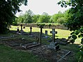 Graves in the churchyard at Broughton near to Milton Keynes - geograph.org.uk - 1692244.jpg