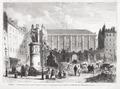 Gravure de la démolition de la place Dauphine à Paris en 1874. Démontage de la fontaine Desaix.tif