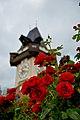 Graz Uhrturm von Herbersteingarten aus 01.jpg